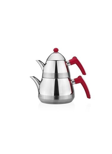 Taç Mutfak Casablanca Çaydanlık - Kırmızı Kırmızı